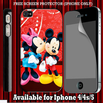 Mickey and Minnie Mouse Custom Iphone 4 Case by electricpuff