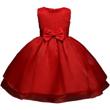 Todder Girl Baptism Dress Tutu Summer Baby Party Frock Flower Girl Wedding Christening Gown Infant 1 Year Birthday Dress Vestido