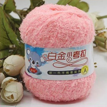 50g Soft Plush 100% Cotton Thick Yarn for Knitting Crocheting Warm DIY Hand Needle Chunky Baby Sweater Blanket Gloves Hat