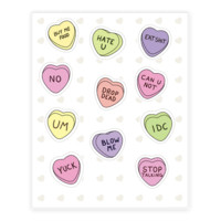 CONVERSATION HEARTS STICKER