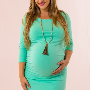 My Wish Maternity Dress in Green
