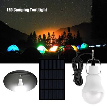 Solar LED Camping Tent Light Rechargeable Night Lamp