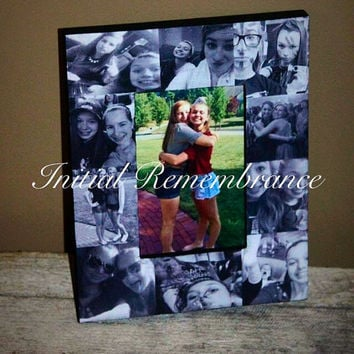 Picture Frame, Photo Frame, Unique best friend Gift, Parent Gift, Maid of Honor, Custom made collage, Sister Gift, Family Portraits