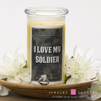 I LOVE MY SOLIDER Jewelry Greeting Candles