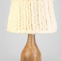 Sweater Knit  Lampshade - White One