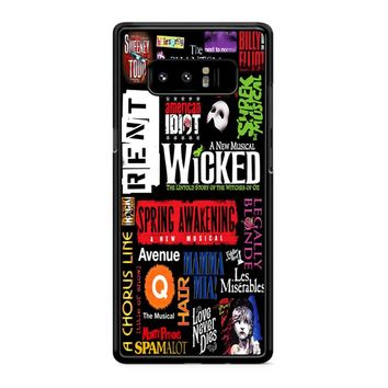 Famous Broadway Musiacal Plays Collage Samsung Galaxy Note 8 Case