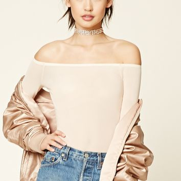 Sheer Off-the-Shoulder Bodysuit