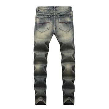 Men Slim Strong Character Jeans [1574710444125]