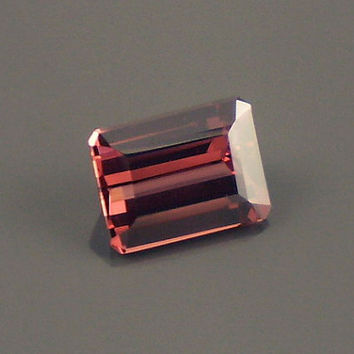 Rhodolite Garnet: 1.88ct Red Raspberry Emerald Shape Gemstone, Natural Hand Made Faceted Gem, Loose Precious Mineral, Jewelry Supply 20211