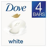 Dove White Beauty Bar 4 oz, 4 Bar