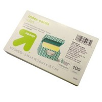 "up & up® - 100ct Ruled Index Cards 3""X5"" - Multicolor"