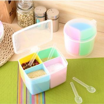 kitchen storage box plastic box organizer salt and pepper shaker cooking tools food container free shipping WYQ
