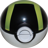 Pokemon Pokeball Grinder, Herb Grinder, Tobacco - Black/Green