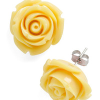 ModCloth Fairytale Retro Rosie Earrings in Banana