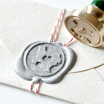 B20 Wax Seal Stamp Personalized Love Heart your State