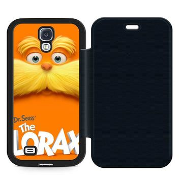Dr Seuss Lorax Face Leather Wallet Flip Case Samsung Galaxy S4