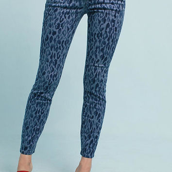 Pilcro Leopard Mid-Rise Skinny Jeans