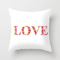 LOVE Throw Pillow by Aimee St Hill