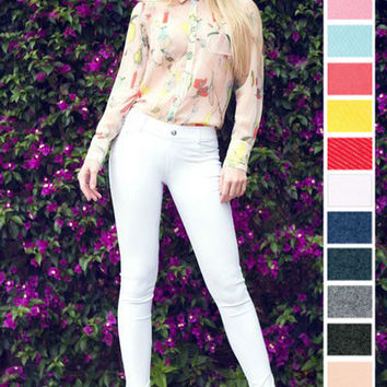 Solid Colored Jeggings