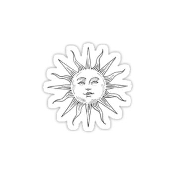 'Tumblr Inspired Sun Logo' Sticker by selinuenal13