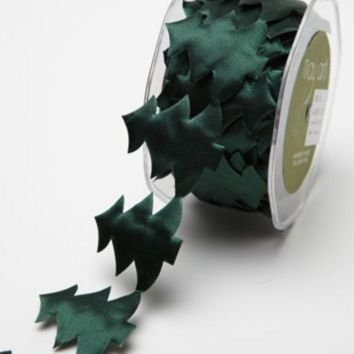 1.5 Inch Christmas Tree Satin Cut Out Ribbon
