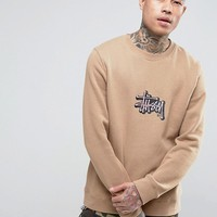 Stussy Sweatshirt With Applique Logo at asos.com