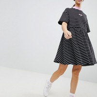 Lazy Oaf Oversized Smock Dress In Stripe at asos.com