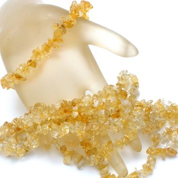 Citrine Nugget Gemstone Bead Necklace & Bracelet Set
