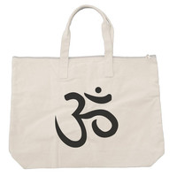 Om Tote bags. Black or Natural color BE009