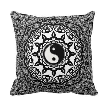 Sunflower Tribal Yin Yang Fusion Art Cushion Pillows
