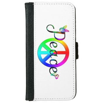 Peace Wallet Phone Case For iPhone 6/6s