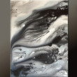 Abstract Art Painting on Canvas - Black & White 18x24 Contemporary Original Paintings by Destiny Womack - dWo - Lost Memories