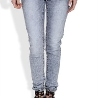 YMI Acid Wash Skinny Jean with Figure Enhancing Fit