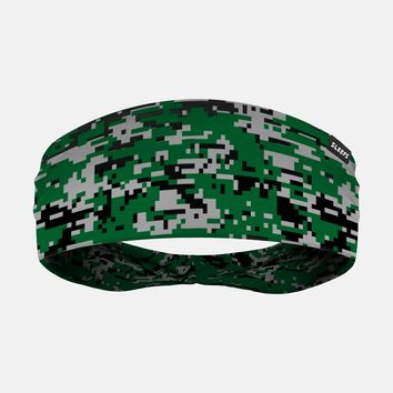 Digital Camo Green Gray Headband