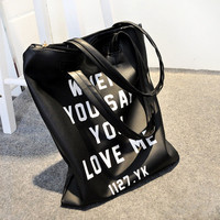 When U Said U Love Me Shoulder Bag Vintage Tote Bag [6583132359]
