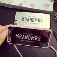 Mr and Mrs Letter Case for iPhone