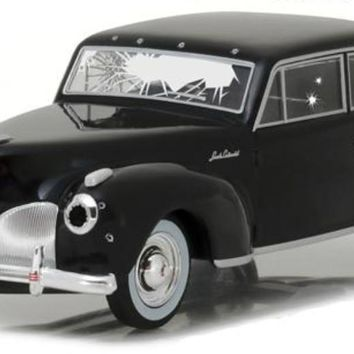 1941 Lincoln Continental Black Bullet Damage The Godfather 1:43 Diecast Car