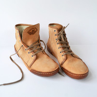 Sneakers Unisex - Handmade in Curried Leather