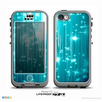 The Bright Blue Light Skin for the iPhone 5c nüüd LifeProof Case