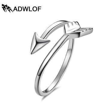 ADTL Genuine 925 Sterling Silver Brass Adjustable Tiny Arrow Rings For women Wedding Engagement Knuckle Rings Jewelry