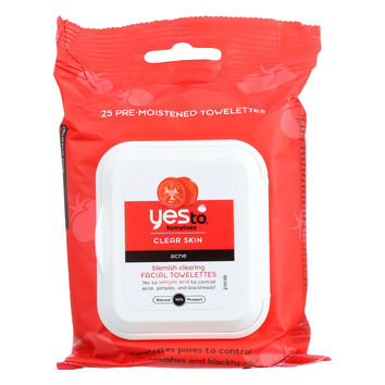 Yes To Blemish Clearing Facial Towelettes - Case of 3 - 30 Count