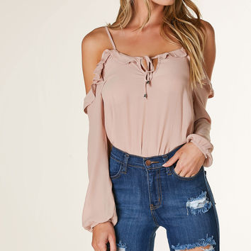 Only One Cold Shoulder Top