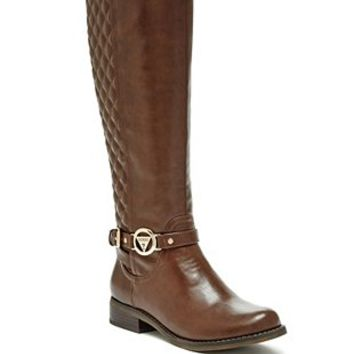 Hurdle Logo Riding Boots at Guess