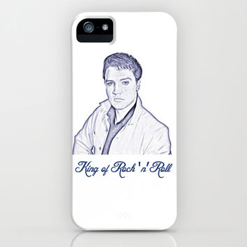 Elvis Presley 60s, , the king of music, rock 'n' roll. Pencil art sketch. Icon art work.  iPhone & iPod Case by PatternWorld