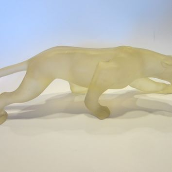 Roaring Panther Resin Sculpture Contemporary Modernist Candy Art