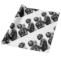 Tribal Wedding Preparations Wrapping Paper