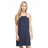 Cut Out Back Aline Dress, Navy