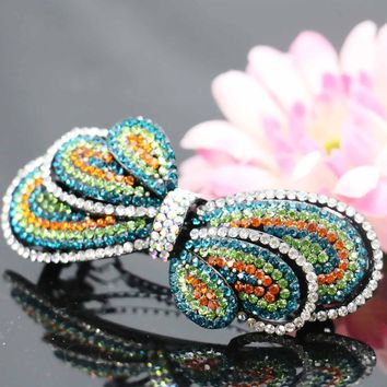 17*73mm Trend Korean style Bow Bowknot Butterfly Bridal Wedding Headdress Head Bands Headband Headpiece Hair Accessory
