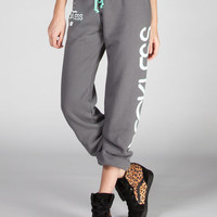 Young & Reckless Arrowhead Womens Sweatpants Charcoal  In Sizes
