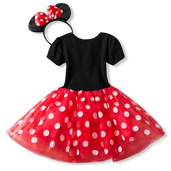 Fancy 1 Year Birthday Party Dress For Halloween Cosplay Minnie Mouse